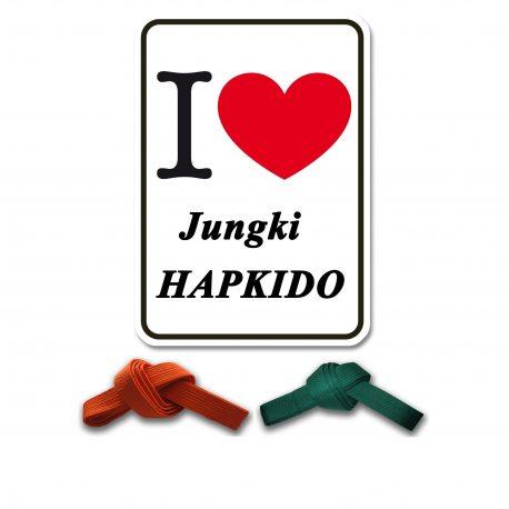 I Love Jungki Kwan oranje en groen